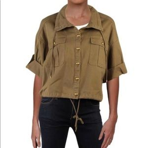 Ralph Lauren Polo cropped olive jacket